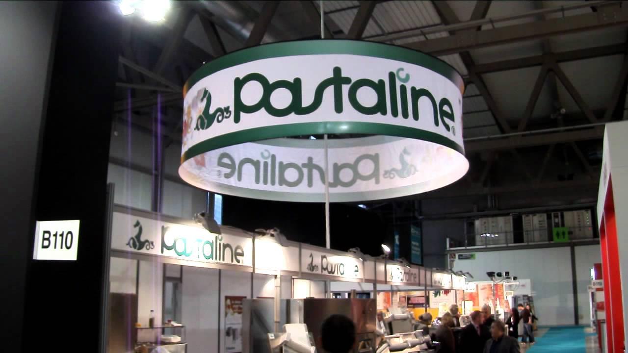 hanging sign circular banner display trade show fiera feria salon