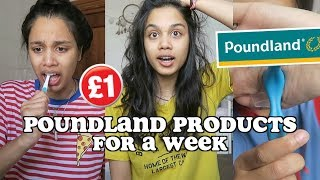 trying out £1 poundland products for a week | clickfortaz