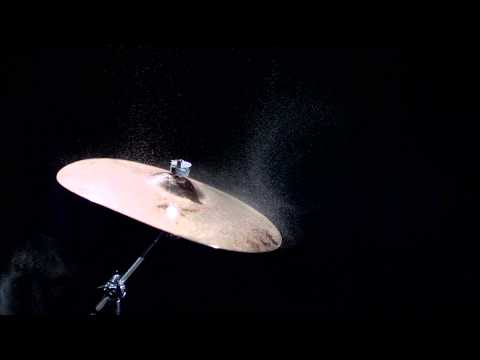 Vibration. See the unseen: Cymbal at 1,000 frames per second.