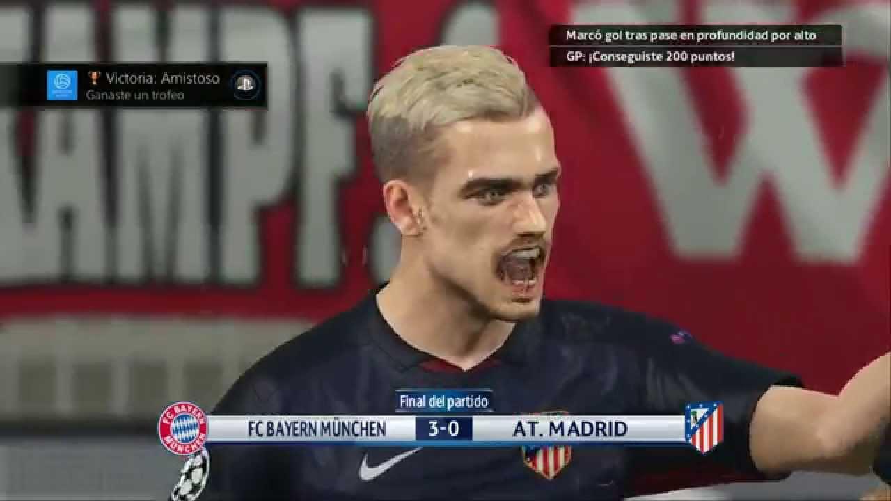 PS4) PES 2016 Bayern Munich vs Atletico Madrid UEFA CHAMPIONS LEAGUE ...