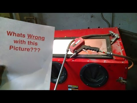 Harbor Freight Blast Cabinet Modificaitons - YouTube