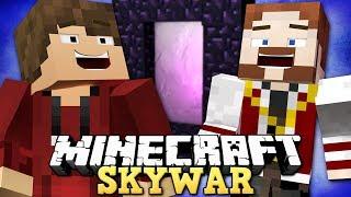 SKYWAR - Desafio do Portal do Nether! ÉPICO! (com Kazzio) - Minecraft