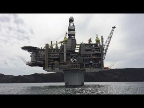 Exxon Mobil's Hebron, oil rig gravity based structure