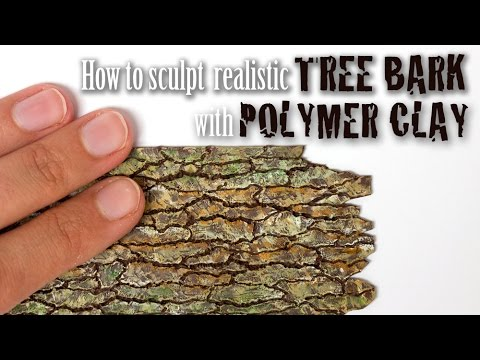 Tree Bark Tutorial Faux Wood From Polymer Clay Youtube