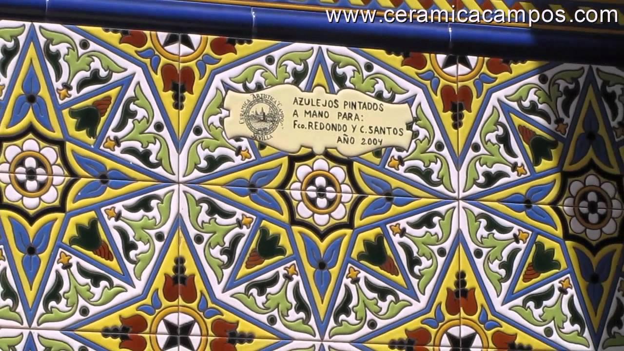 Z calos de azulejos sevillanos youtube for Zocalos de ceramica