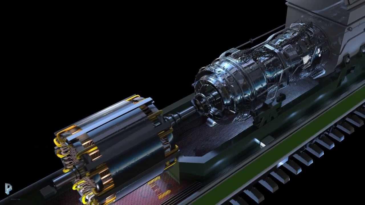Газотурбовоз ГТ 1 Gas turbine electric locomotive GT 1