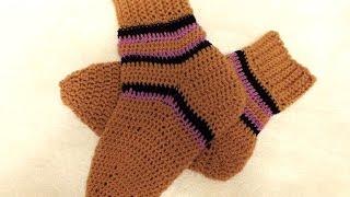Как вязать носки крючком How to croсhet soсks