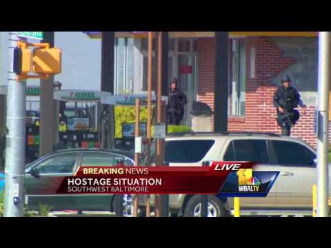 Hostage situation ends at Baltimore Burger King