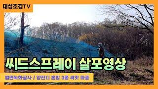대성조경TV]씨드스프레이 살포영상