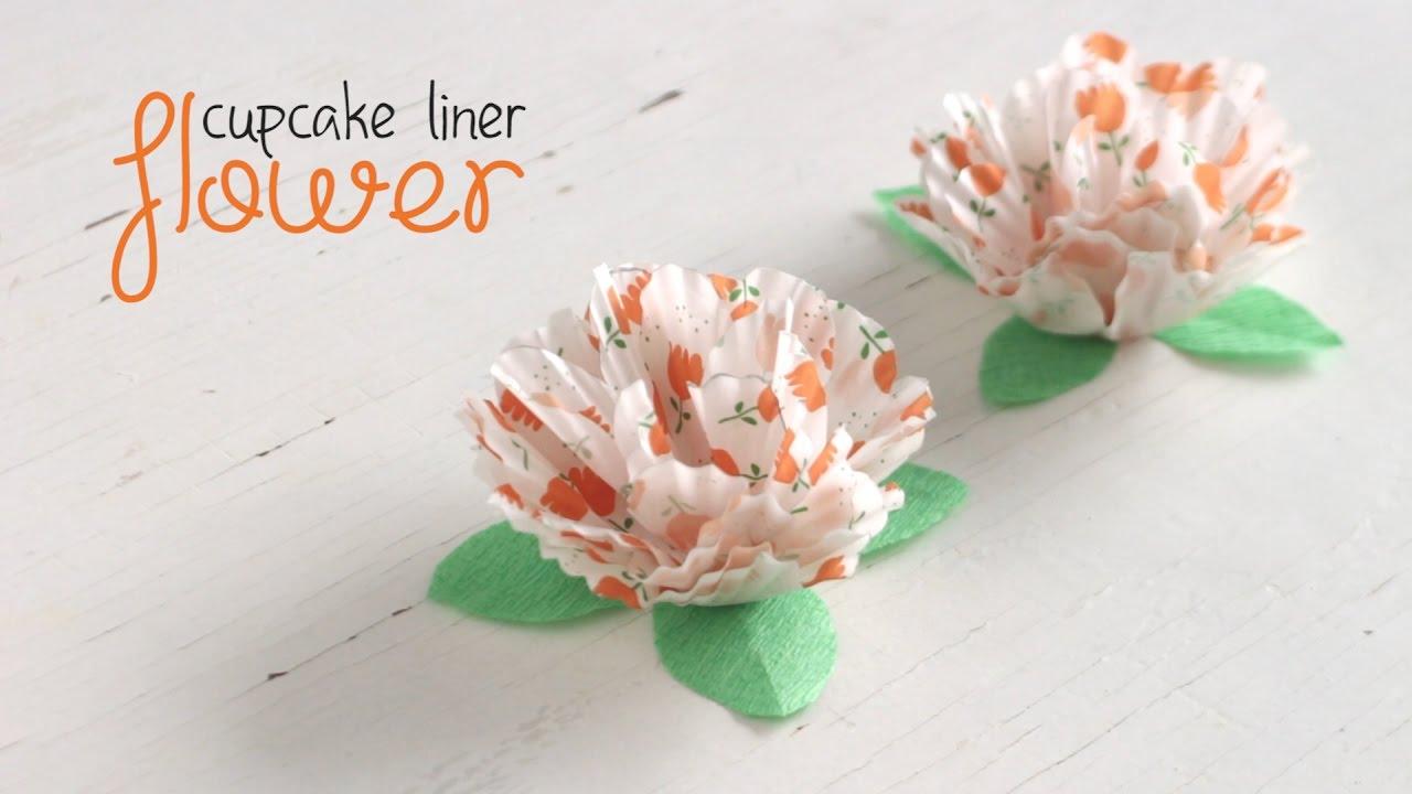 DIY: Cupcake Liner Flower - YouTube