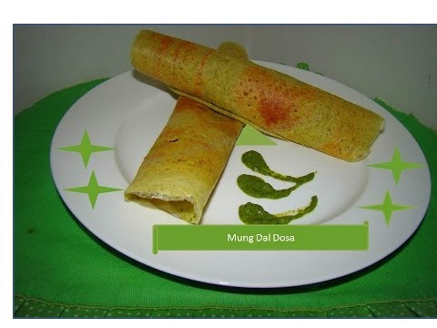 Moong Dal Dosa - Indian Style Mung bean Bread by Home Kitchen
