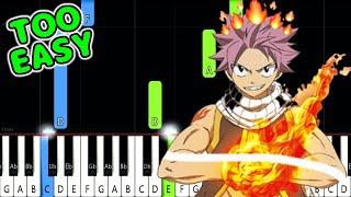 Fairy Tail Main Theme- EASY Piano Tutorial [animelovemen]