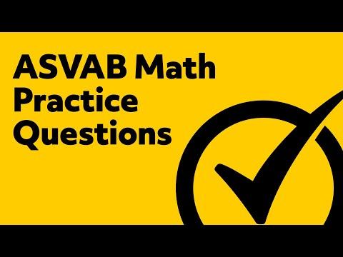 ASVAB Practice Test - 5 Math Practice Questions