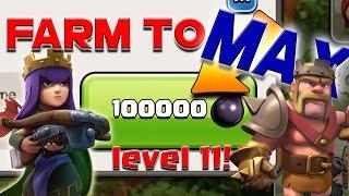 Clash of Clans: Farm to MAX! 100,000 Dark Elixir + Huge Farming!
