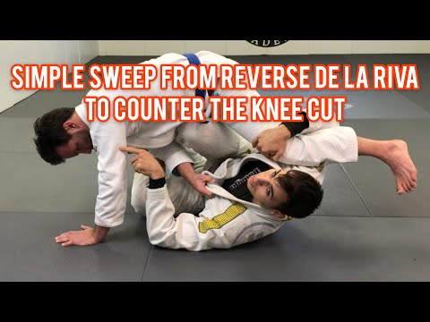 Simple Sweep From Reverse De La Riva To Counter The Knee Cut Pass