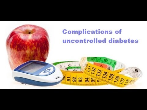 Complications of uncontrolled diabetes