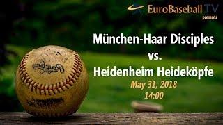 BASEBALL BUNDESLIGA LIVE: München-Haar Disciples vs. Heidenheim Heideköpfe