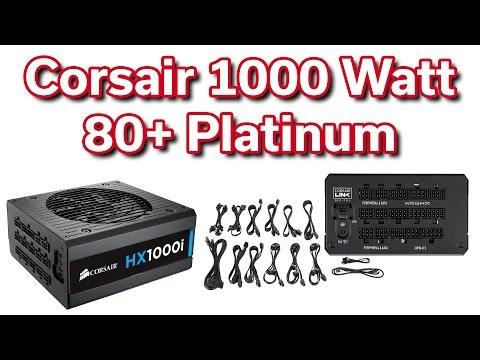 Corsair 1,000 Watt - HXi 80+ Platinum - Power Supply - Review