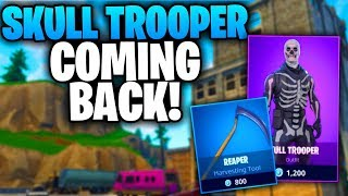 SKULL TROOPER & REAPER PICKAXE CONFIRMED... Coming Tomorrow! | Fortnite Halloween Skins Returning!