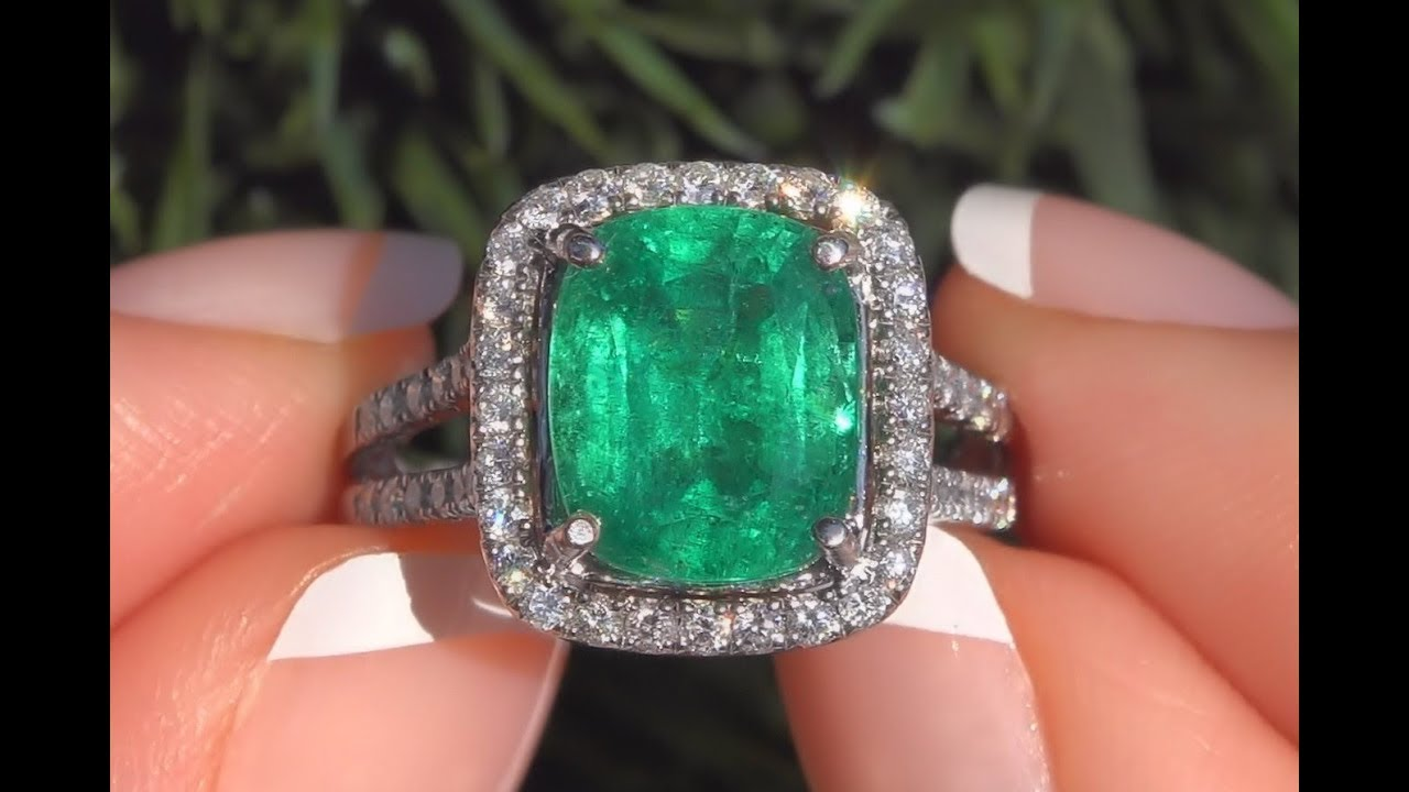 box emerald solid certificate platinum cut diamond in gia w certified ring image i