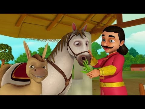 The Donkey And The Horse Telugu Stories For Kids Collection | Infobells