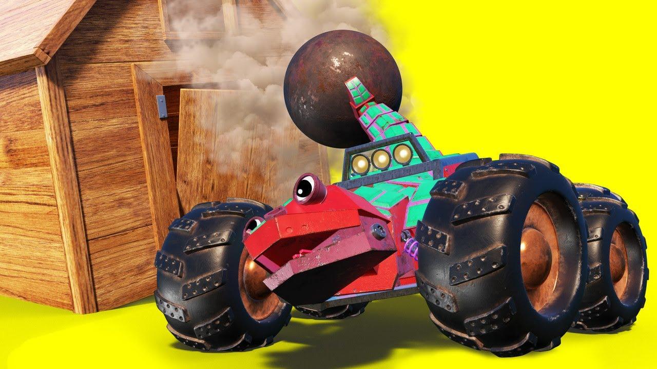 АнимаКары - Карнавал: ЯЩЕРИЦА вламывается на вечеринку! - детские мультфильмы с машинами и животными