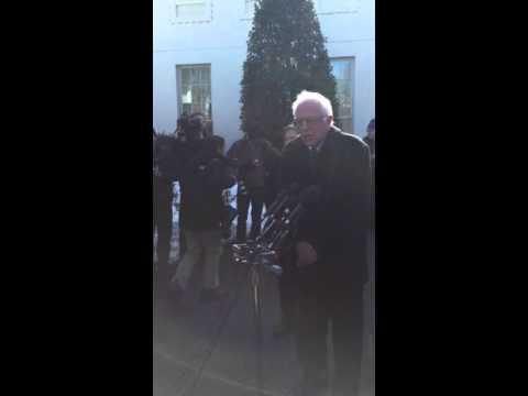 Bernie Sanders at the White House
