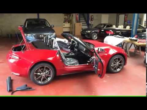 Mounting Miata / MX-5 ND Accessories (Alcantara pack, Bastuck Exhaust, Aero Spoiler Kit) 4K