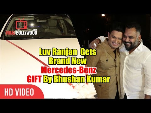 Luv Ranjan Gets A Brand New Mercedes-Benz Car GIFT | Sonu Ke Titu Ki Sweety Success Party