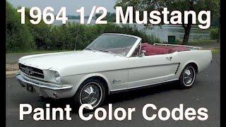1964.5 Mustang Colors