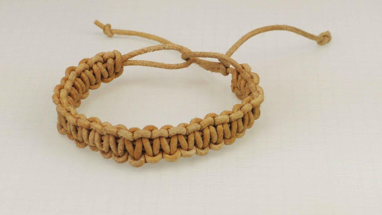 Lederarmband selber machen knoten  Macrame Armband | Ethno Look | Kreuzknoten Armband aus echtem ...