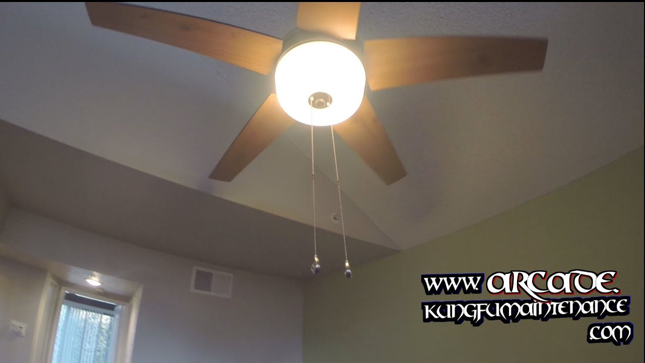 Ceiling Fan Pull Chain Switches Not Working On Pass Through Glass Light Kit Maintenance Repair You