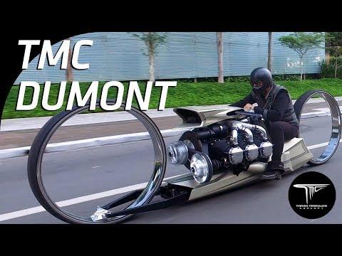 MOTO COM MOTOR DE AVIÃO - TMC Dumont na rua