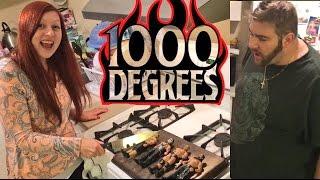 EXPERIMENT: 1000 DEGREE KNIFE ON HUSBANDS WWE WRESTLING ACTION FIGURES!