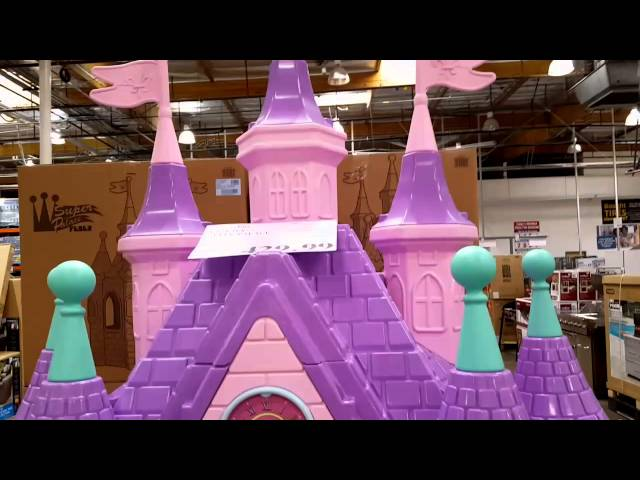 Princess Castle Playhouse Outdoor Costco   Outdoor Designs Inside The Costco Feber Famosa Super Palace Toy Castle For 3