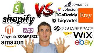 Shopify vs Woocommerce vs SquareSpace vs Wix vs Amazon vs Bigcommerce vs Etsy vs BigCartel + More