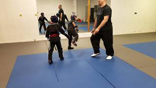 Kids Martial Arts Sparring - Jacob and Jeremy