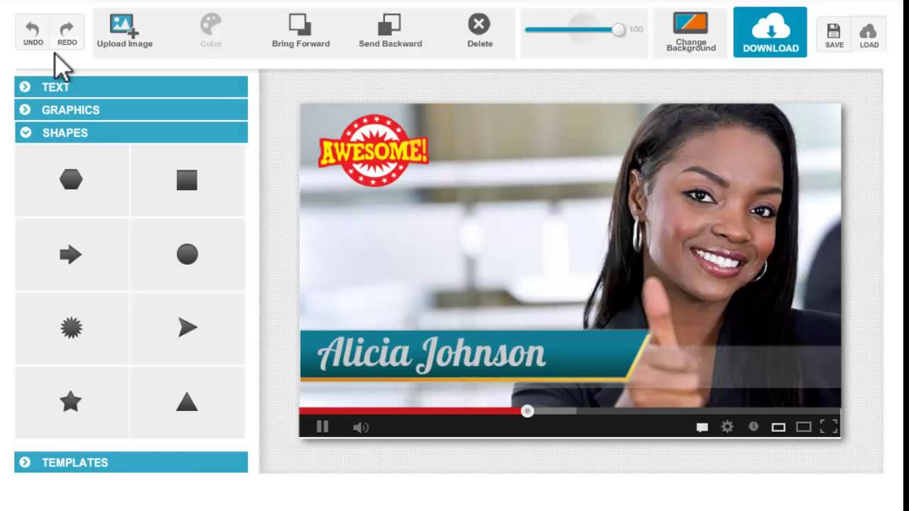 video title graphics make your video like tv channel