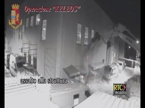 Assalto e rapina alla Sicurtransport a Catanzaro, il video RTC