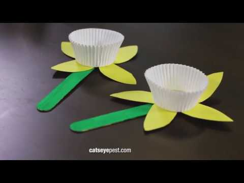Spring Crafts For Kids Diy Paper Flower Craft Youtube