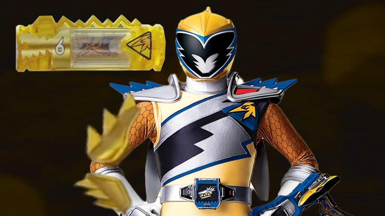 Power Rangers Dino Supercharge Dino Acero Ranger Oro