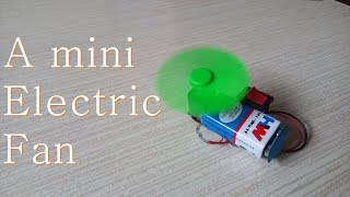 How to make a Mini Electric Fan - Easy way.