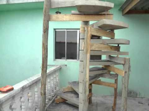 como instalar escada caracol - YouTube