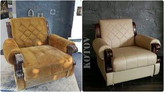 Ремонт мебели своими руками. Реставрация кресел.(Реставрация мягкой мебели. Ремонт и перетяжка кресла. Самое важное условие - не реставрировать и не покрыва..., 2016-07-30T04:57:43.000Z)