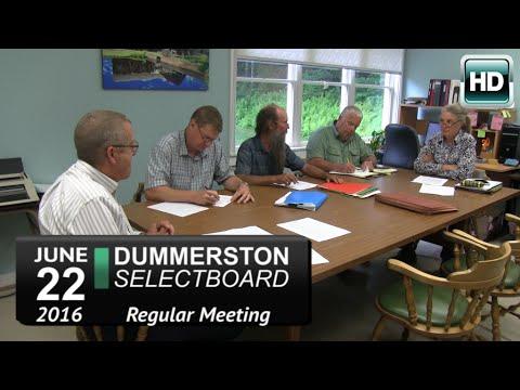 Dummerston Selectboard Mtg 6/2/16