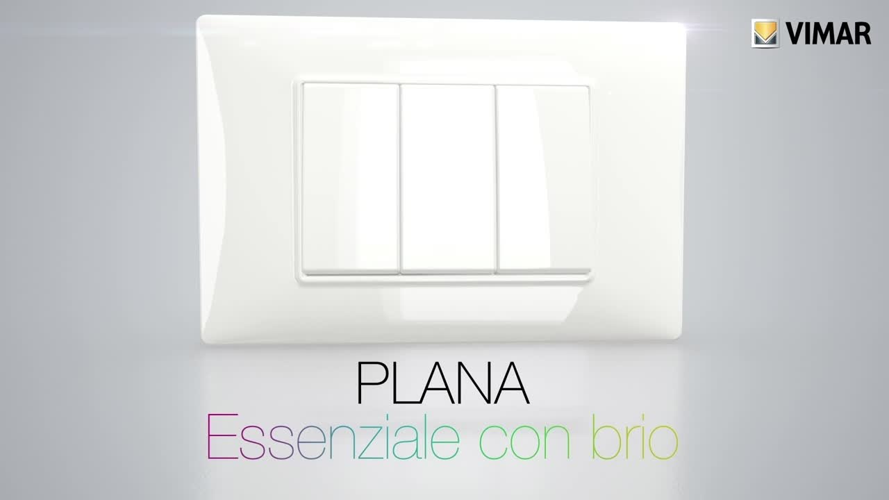Plana essenziale con brio by vimar youtube - Vimar interruttori ...