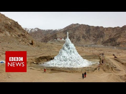 Can ice stupas solve the water crisis in the Himalayan Desert?  - BBC News