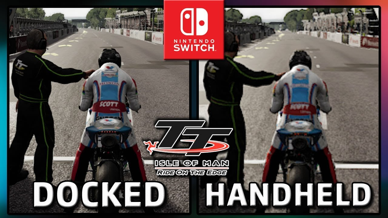 TT Isle of Man | Docked & Handheld | Graphics Comparison & Frame Rate TEST on Switch