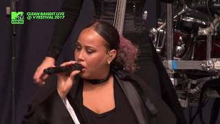 CLEAN BANDIT Ft. Yasmin Green - Real Love  LIVE @ V FESTIVAL 2017