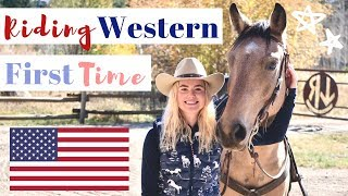 FIRST TIME RIDING WESTERN EVER! | This Esme
